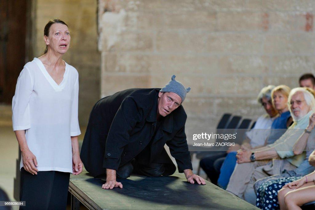 Prométhée enchaîné, Eschyle, pièces de guerre', une adaptation pour le théâtre mise en scène par Olivier Py : News Photo