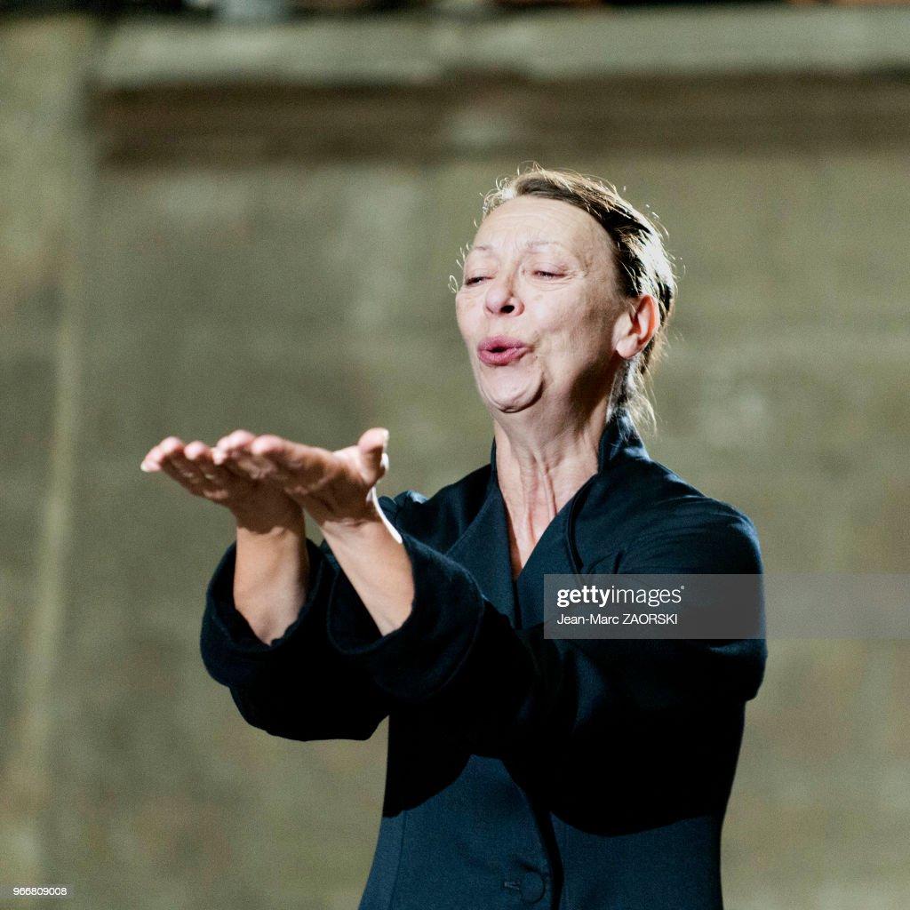 Les Perses, Eschyle, pièces de guerre', une adaptation pour le théâtre mise en scène par Olivier Py : News Photo