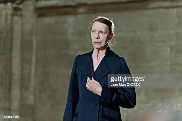 Mireille Herbstmeyer le 19 juillet 2016 dans 'Les Perses Eschyle pièces de guerre' une adaptation pour le théâtre mise en scène par Olivier Py et...
