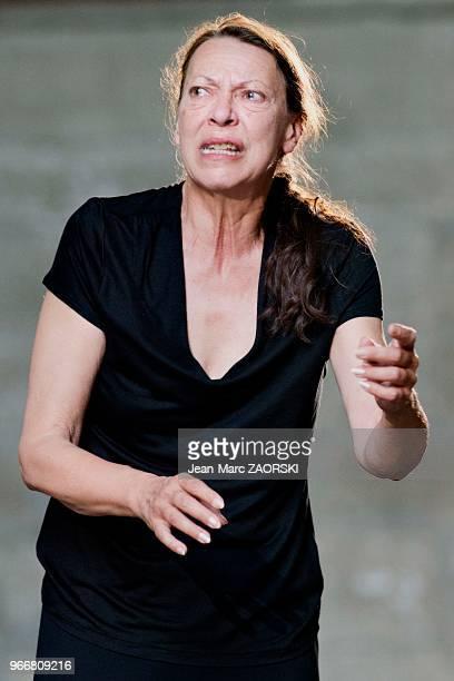 Mireille Herbstmeyer le 19 juillet 2016 dans 'Les Sept contre Thèbes Eschyle pièces de guerre' une adaptation pour le théâtre mise en scène par...
