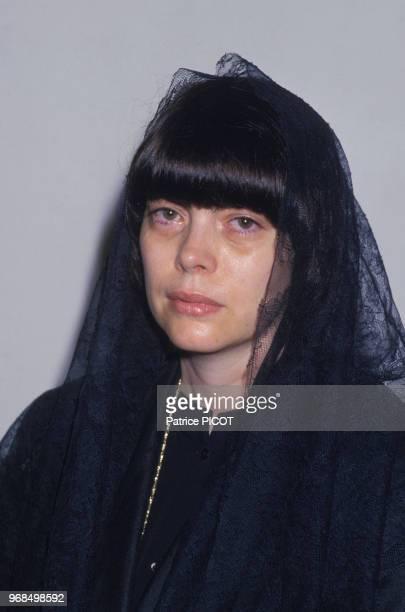 Mireille Mathieu aux absèques de son père le 19 aout 1985 Avignon France