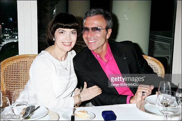 Mireille Mathieu Celebrates Her 61Th Birthday With Nadezda Kushenkova Her Family And Friends In Paris France On July 23 2007 Mireille Mathieu and...