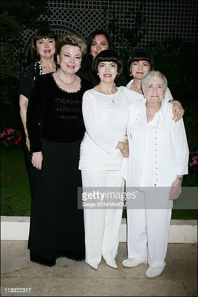 Mireille Mathieu Celebrates Her 61Th Birthday With Nadezda Kushenkova Her Family And Friends In Paris France On July 23 2007 Mireille's sister...