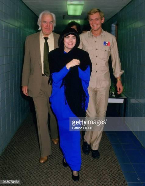 Mireille Mathieu et Johnny Stark à Moscou 1987