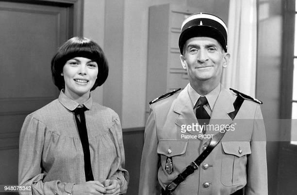 Mireille Mathieu et Louis de Funes novembre 1978