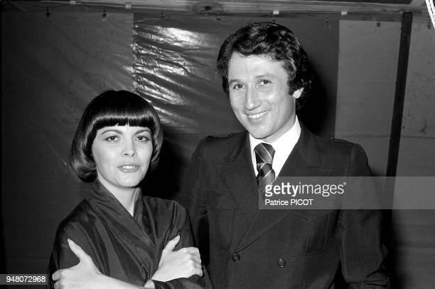 Mireille Mathieu et Michel Drucker à Sion/océan juillet 1976