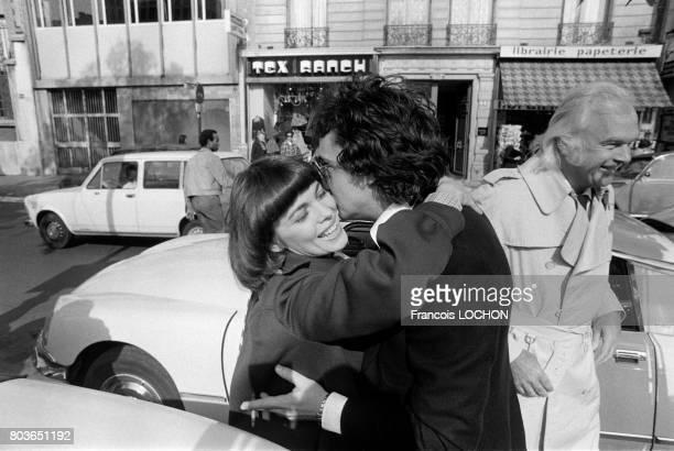 Mireille Mathieu et Michel Sardou à Paris le 6 septembre 1975 en France