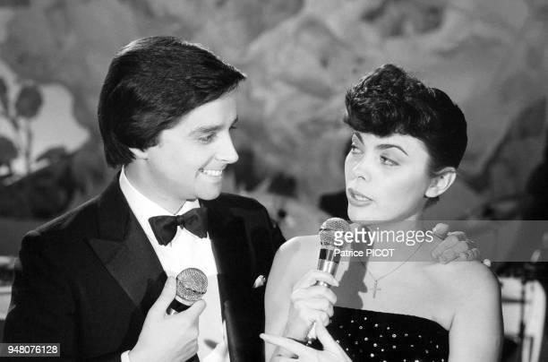 Mireille Mathieu et Thierry Le luron, show télé, novembre 1979.