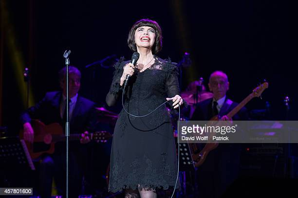 Mireille Mathieu performs at L'Olympia on October 24 2014 in Paris France