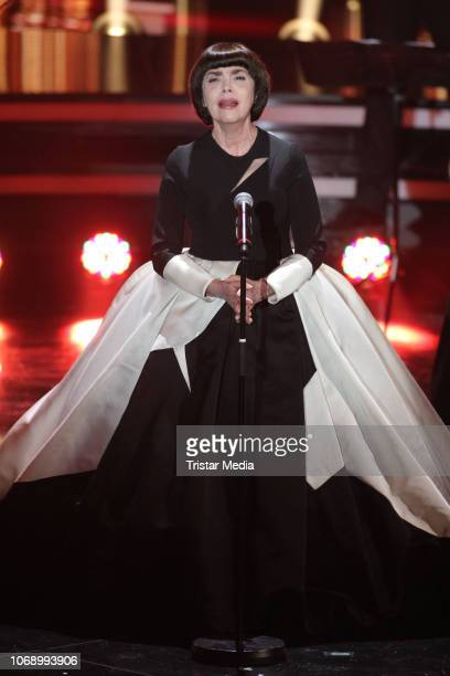 Mireille Mathieu performs during the charity tv show 'Die schoensten WeihnachtsHits' in favor of MISEREOR and Brot fuer die Welt on December 5 2018...