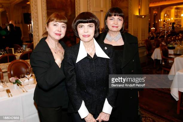Mireille Mathieu with her sisters Monique Mathieu and Christiane Mathieu attend the 50th Anniversary party of Stephane Bern called Half a century...