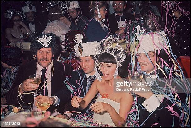 Mireille Mathieu with Michel Drucker Thierry Le Luron and Mort Shuman