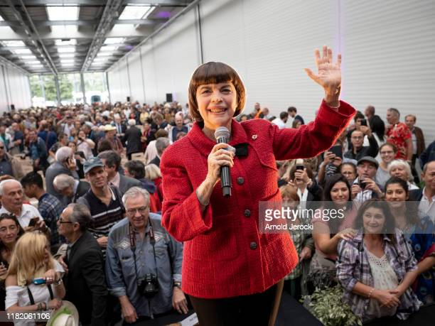 Mireille Matthieu attends the Launch of the Avignon tramway on October 19 2019 in Avignon France