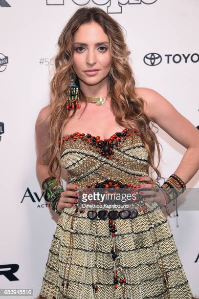 Mirella Cesa arrives at People en Espanol's 50 Most Beautiful Gala 2017 at Espace on May 16 2017 in New York City