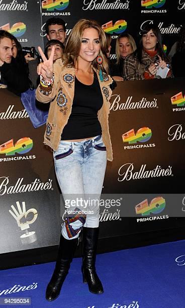 Mirella Cesa arrives at the ''40 Principales'' Awards at the Palacio de Deportes on December 11, 2009 in Madrid, Spain.