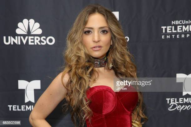 Mirella Cesa attends Telemundo's Al Rojo Vivo 15th Anniversary Celebration at Hammerstein Ballroom on May 15 2017 in New York City