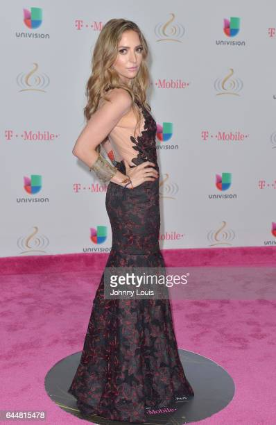 Mirella Cesa attends Univision's 29th Edition of Premio Lo Nuestro A La Musica Latina at the American Airlines Arena on February 23 2017 in Miami...