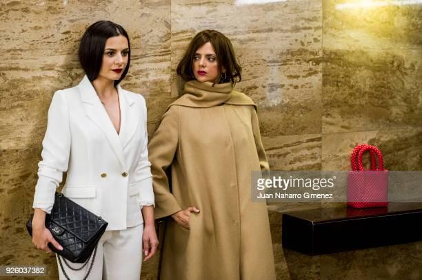 Miren Ibarguren and Macarena Gomez attend 'ÁOh Cuba' premiere at Fernan Gomez Theater on March 1 2018 in Madrid Spain