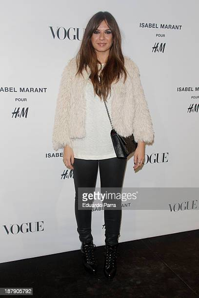 Miren Ibarguren attends Isabel Marant new collection party photocall at HM store on November 13 2013 in Madrid Spain