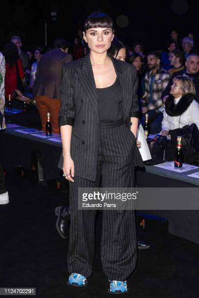 Miren Ibarguren attends the Ana Locking fashion show during the Mercedes Benz Fashion Week Autumn/Winter 20192020 at Ifema on January 25 2019 in...