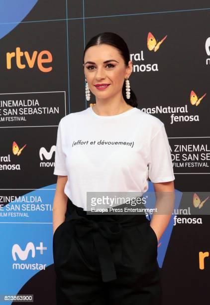 Miren Ibarguren attends the presentation of San Sebastian Film Festival 2017 programme on July 28 2017 in Madrid Spain