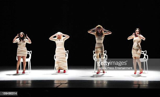 Miren Ibarguren Elisa Matilla Josele Roman and Pepa Rus present 'Lifting' theatre play on January 11 2013 in Malaga Spain