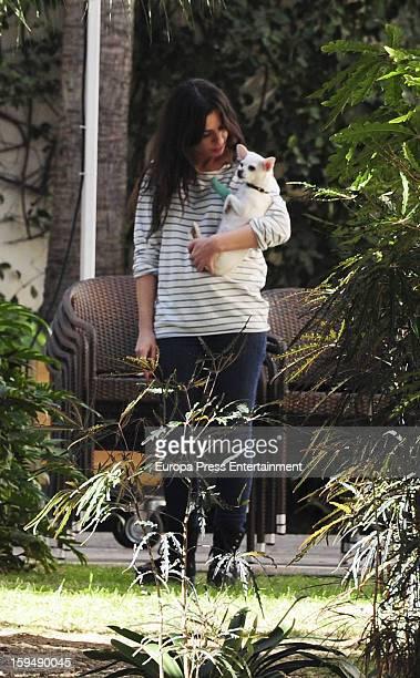 Miren Ibarguren is seen on January 11 2013 in Malaga Spain