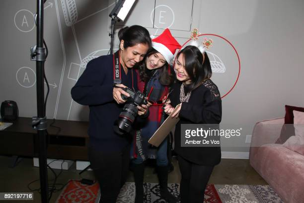 Mireya Acierto Guest and Guest attend Niki Shaokao Cheng's Annual Holiday Party at Calligaris SoHo on December 13 2017 in New York City