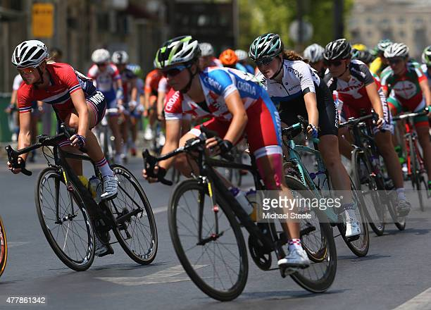 Miriam Bjornsrud of Norway in the Women's Road Race during day eight of the Baku 2015 European Games at Freedom Square on June 20 2015 in Baku...