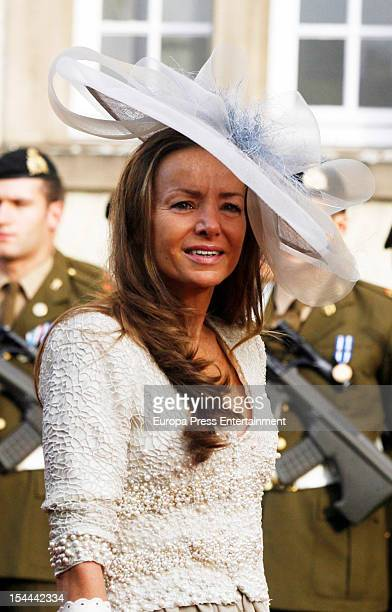 Miriam de Hungria during the wedding ceremony of Prince Guillaume Of Luxembourg and Countess Stephanie de Lannoy at the Cathedral of our Lady of...