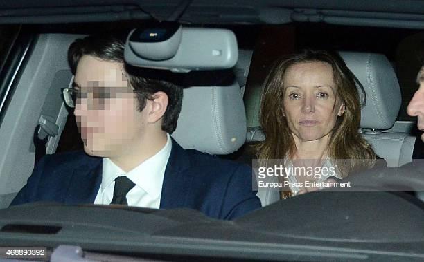 Miriam de Ungria and Prince Boris Tumovski attend the funeral chapel for Prince Kardam of Bulgaria on April 7, 2015 in Madrid, Spain.