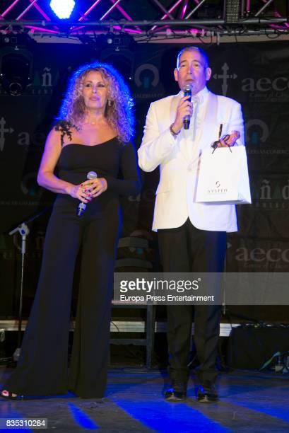 Miriam Diaz Aroca and Boris Izaguirre attend XXXIV AECC Gala Dinner at Real Club de Golf Guadalmina on August 5 2017 in Marbella Spain