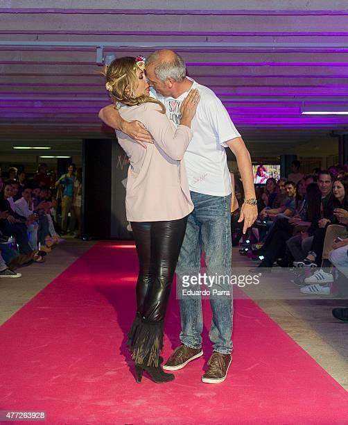 Miriam Diaz Aroca and Jordi Rebellon walk the runway at the 'By Nerea' show on June 15 2015 in Madrid Spain