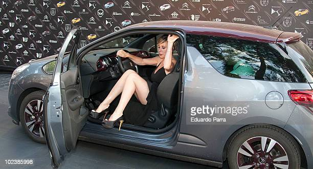 Miriam Diaz Aroca attends 'Citroen DS3 Awards' at French Ambassador's residence on June 24 2010 in Madrid Spain