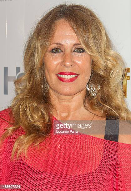 Miriam Diaz Aroca attends Hairstaff Charity Gala photocall at Bodevil Theatre on September 16 2015 in Madrid Spain