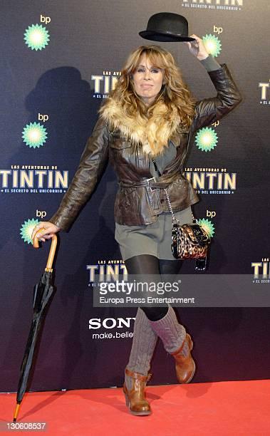 Miriam Diaz Aroca attends 'Las Aventuras de Tintin El Secreto del Unicornio' premiere at Callao cinema on October 26 2011 in Madrid Spain