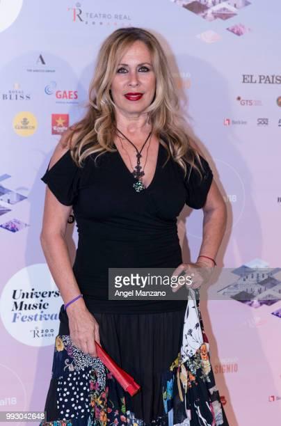 Miriam Diaz Aroca attends Miguel Rios concert on July 6 2018 in Madrid Spain