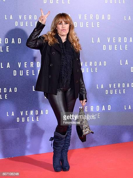 Miriam Diaz Aroca attends the 'Concussion' Premiere at Callao Cinema on January 27 2016 in Madrid Spain