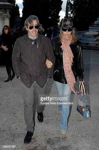 Miriam Diaz Aroca attends the funeral for Carla Duval sister of vedette Norma Duval at San Isidro Cementery on November 1 2010 in Madrid Spain Carla...