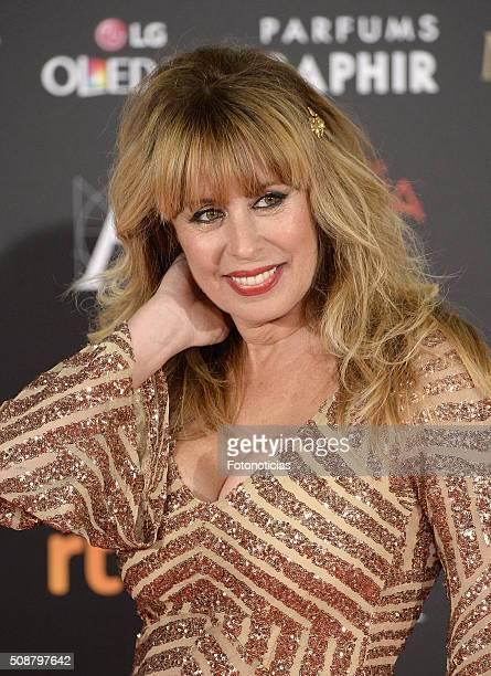 Miriam Diaz Aroca attends the Goya Cinema Awards 2016 Ceremony at Madrid Marriott Auditorium on February 6 2016 in Madrid Spain