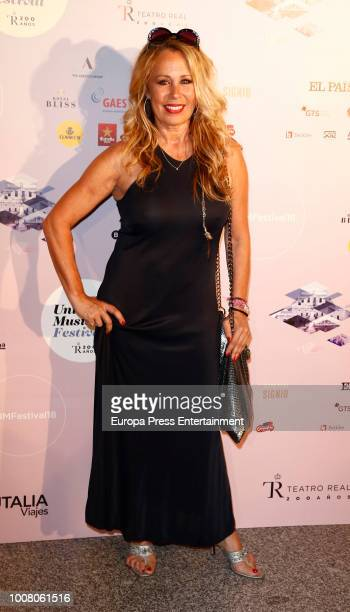 Miriam Diaz Aroca attends the Steven Tyler concert photocall at Royal Theatre during Universal Music Festival on July 30 2018 in Madrid Spain