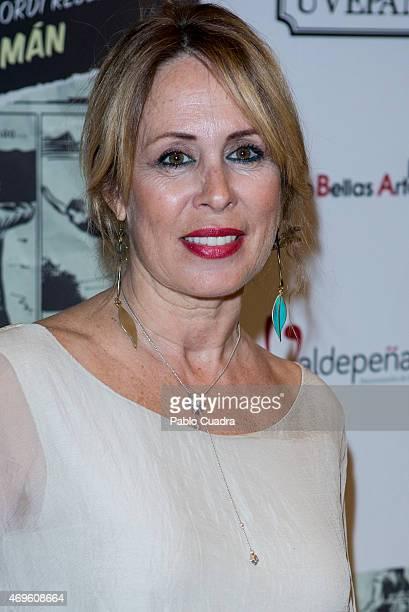 Miriam Diaz Aroca attends the 'Yo Quise Ser Superman' presentation at Bellas Artes theatre April 13 2015 in Madrid Spain