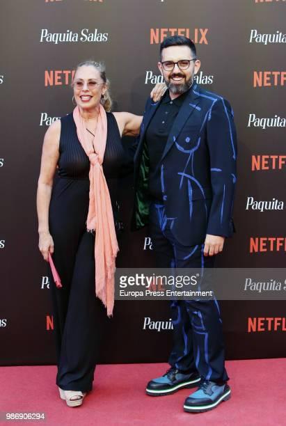 Miriam Diaz Aroca attends World Premiere of Netflix's Paquita Salas Season 2 on June 28 2018 in Madrid Spain