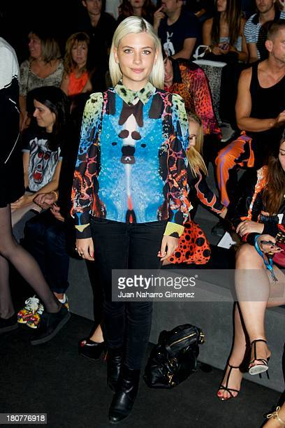 Miriam Giovanelli attends a fashion show during the Mercedes Benz Fashion Week Madrid Spring/Summer 2014 on September 16 2013 in Madrid Spain