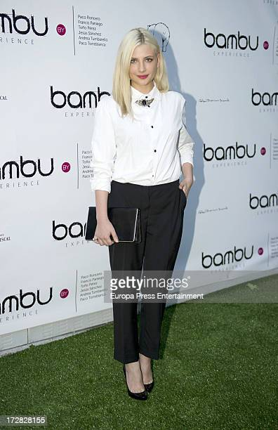 Miriam Giovanelli attends Bambu Producciones anniversary party at Shoko Nightclub on July 4 2013 in Madrid Spain