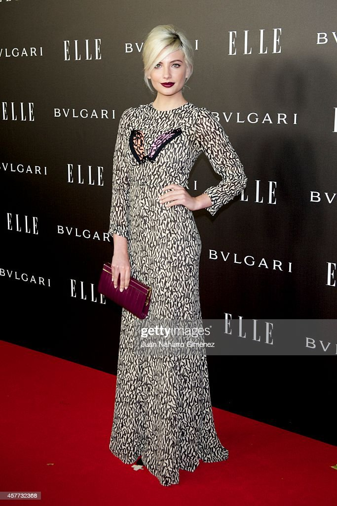 Miriam Giovanelli attends 'Elle Style Awards 2014' photocall at Italian Embassy on October 23, 2014 in Madrid, Spain.