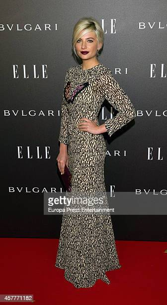 Miriam Giovanelli attends the Elle Style Awards party at the Italian Embassy on October 23 2014 in Madrid Spain