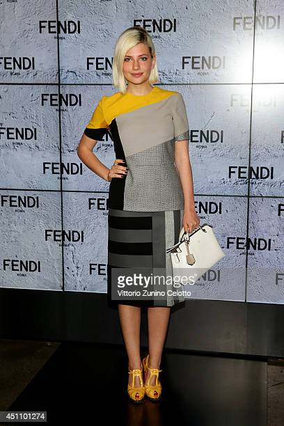Miriam Giovanelli attends the Fendi show during Milan Menswear Fashion Week Spring Summer 2015 on June 23 2014 in Milan Italy