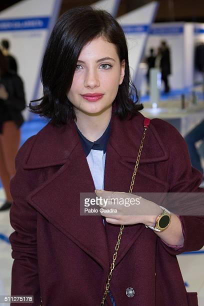 Miriam Giovanelli attends the MercedesBenz Madrid Fashion Week Autumn/Winter 2016/2017 at Ifema on February 19 2016 in Madrid Spain