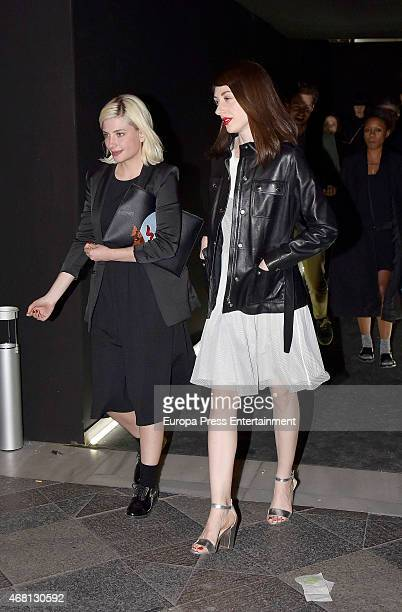 Miriam Giovanelli attends the opening of a Balenciaga store on March 13 2015 in Madrid Spain